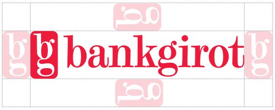 Bankgirot's logotype with free area around