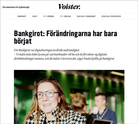 The interview is in Swedish and talks about digitizations and the future for Bankgirot
